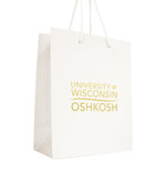 GIFT BAG LOGO MED - WHITE