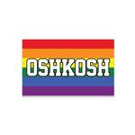 MAGNET - WOOD RAINBOW OSHKOSH