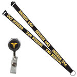 LANYARD - BADGE REEL NURSING - BLACK
