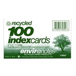 INDEX CARDS 3X5 RULE RECY