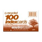 INDEX CARD 3X5 PLAIN RECY