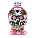 DECAL B84 - OSHKOSH SKULL