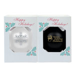 ORNAMENT 2pk - BLK/WHT