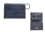 ID HOLDER - LEATHER SNAP NAVY