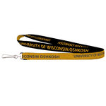 LANYARD - 2 SIDED WOVEN BLK/YLW