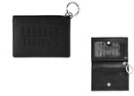 ID HOLDER - LEATHER SNAP BLACK