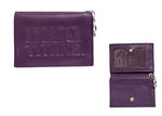 ID HOLDER - LEATHER SNAP VIOLET
