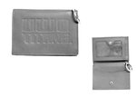 ID HOLDER - LEATHER SNAP GRAY