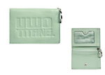 ID HOLDER - LEATHER SNAP MINT GREEN
