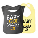 BABY GOT SNACKS BIB