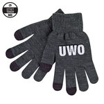 KNIT TEXTING GLOVE CHARCOAL