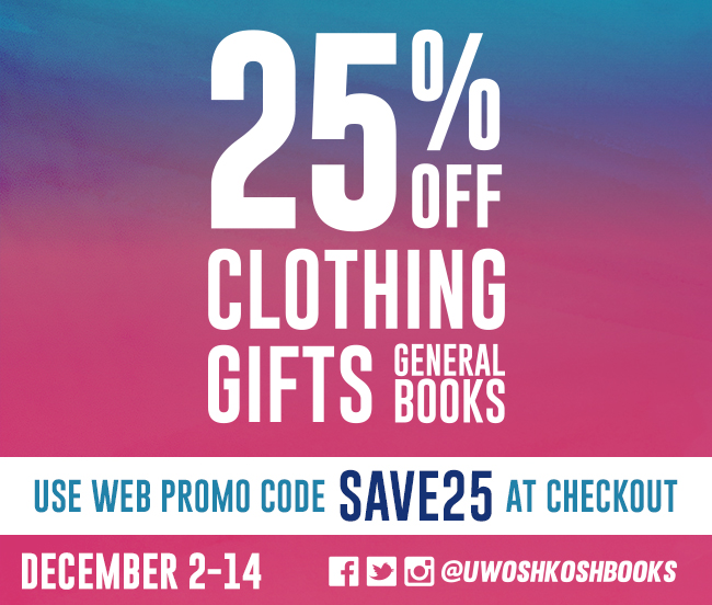 25% off Clothing Gifts General Books - must use promo code SAVE25 at checkout