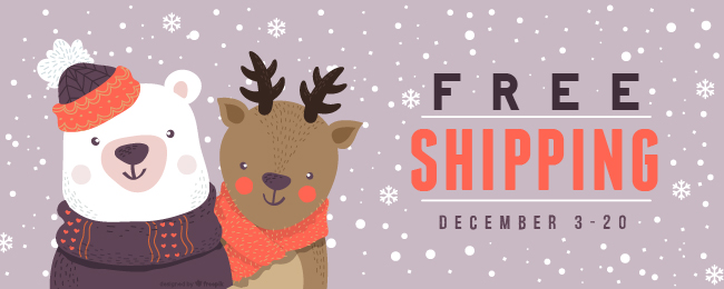 Free shipping on all orders December 3-20!
