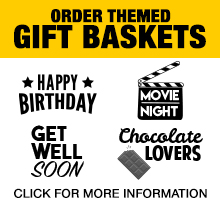 Order themed gift baskets - click for more information