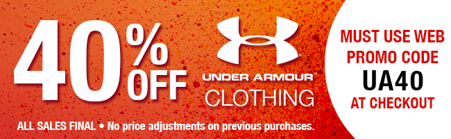 40% off Under Armour - Must use promo code UA40 at checkout